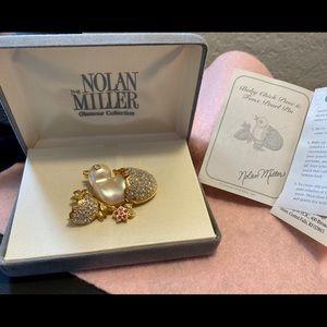 Nolan Miller baby chick brooch